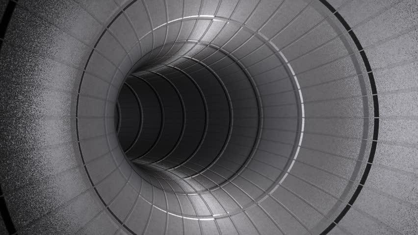 Fly Through Metallic Tunnel,seamless Loop   HD Stock Video Clip