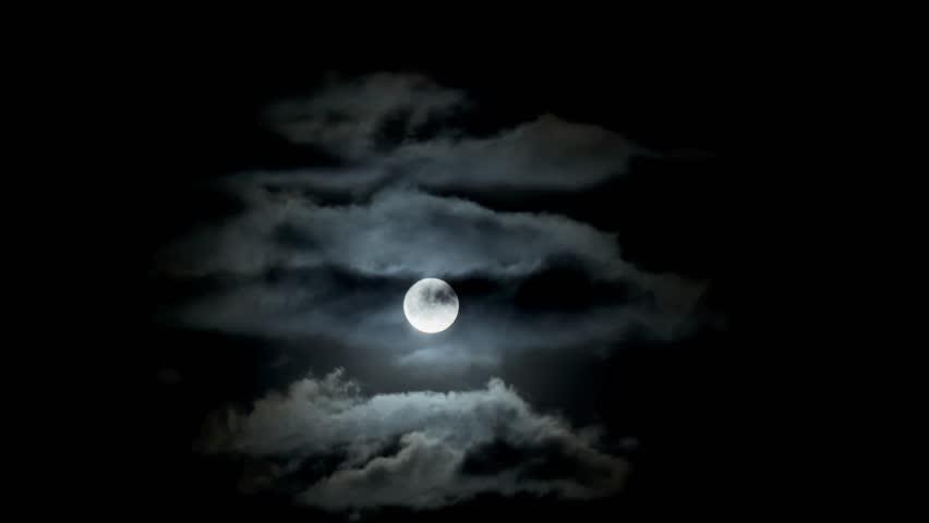 Full moon clouds night sky | Shutterstock HD Video #31467028