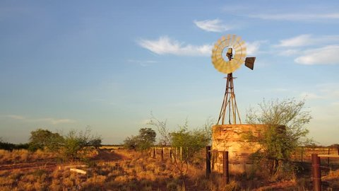 Windmill in Australian outback. This windmill is found in the Pilbara region of Western Australia near Marble Bar.