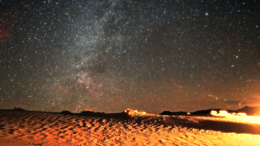 Incredible Milky Way Galaxy and Geminid Meteor Timelapse over Desert in Death Valley, California 2012.