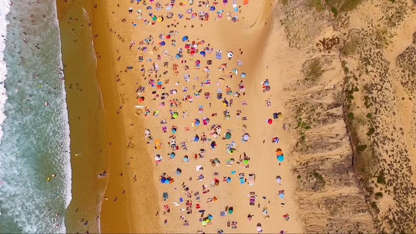 aerial view of a beach, france