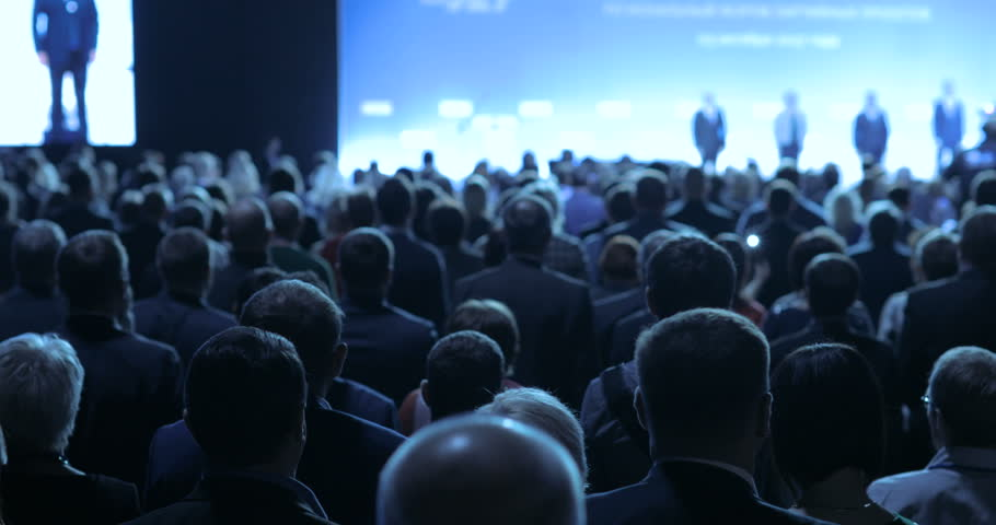 People at a conference or presentation, workshop, master class photograph. Back view | Shutterstock HD Video #31496914