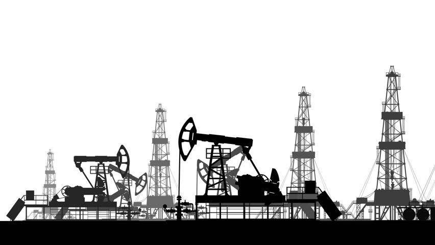 Silhouettes of Working Oil Pumps Stock Footage Video (100% Royalty-free)  31582378   Shutterstock