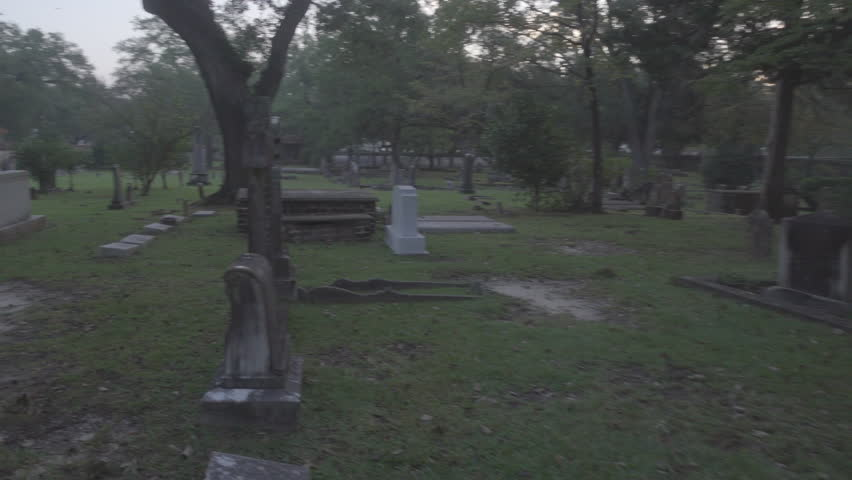 Historic old graveyard next to church in George Town South Carolina | Shutterstock HD Video #31584148