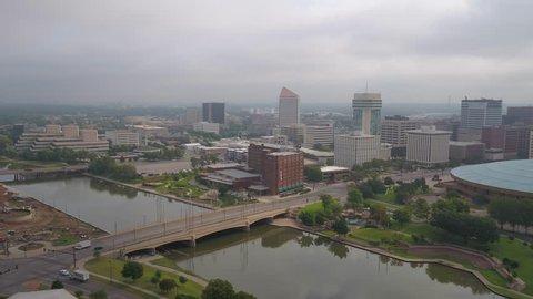 Aerial Kansas Wichita July 2017 Overcast Day 4K Inspire 2