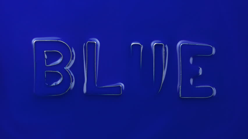 blue the word