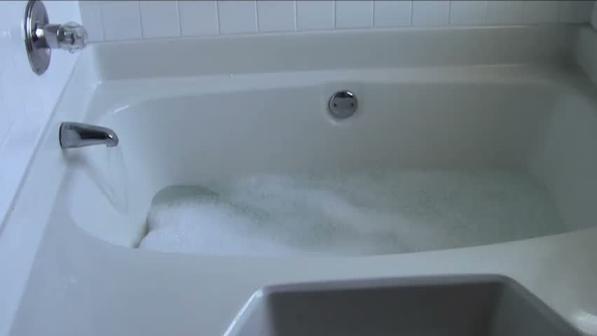 Bathtub Filling With Water And Stock Footage Video 100