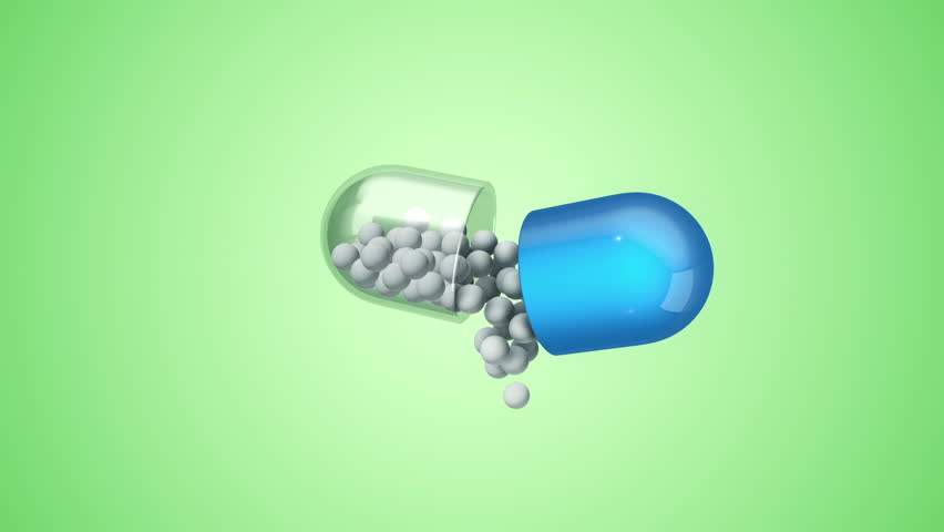 Animation rotation of pill from glass with vitamins inside. Abstract background for medical movie. Animation of seamless loop. | Shutterstock HD Video #31692109