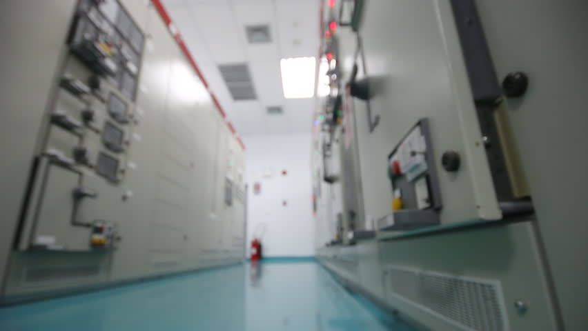 Stock video of electrical switch gear room,industrial electrical ...