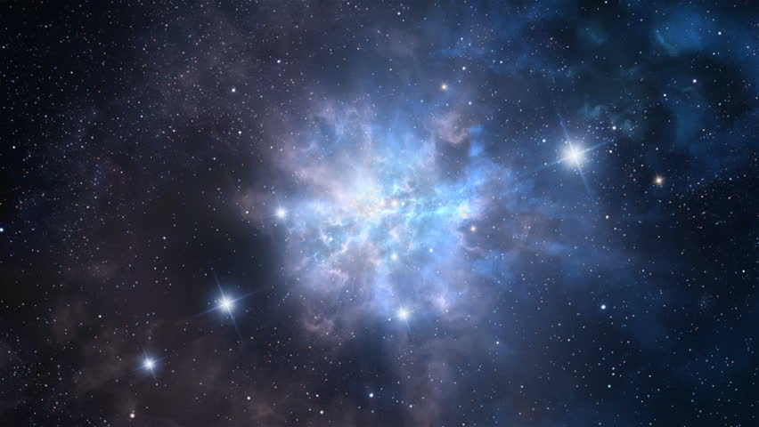 Seamlessly loopable animation of flying through the space nebula | Shutterstock HD Video #31725718