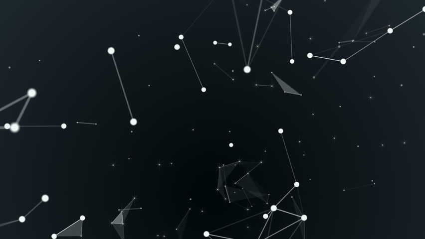 Graphical geometric background molecule and connection, white cybernetic points, stars, lines. Beautiful plexus. Abstract creative composition, gray wallpaper, space. Loop animation. | Shutterstock HD Video #31767028