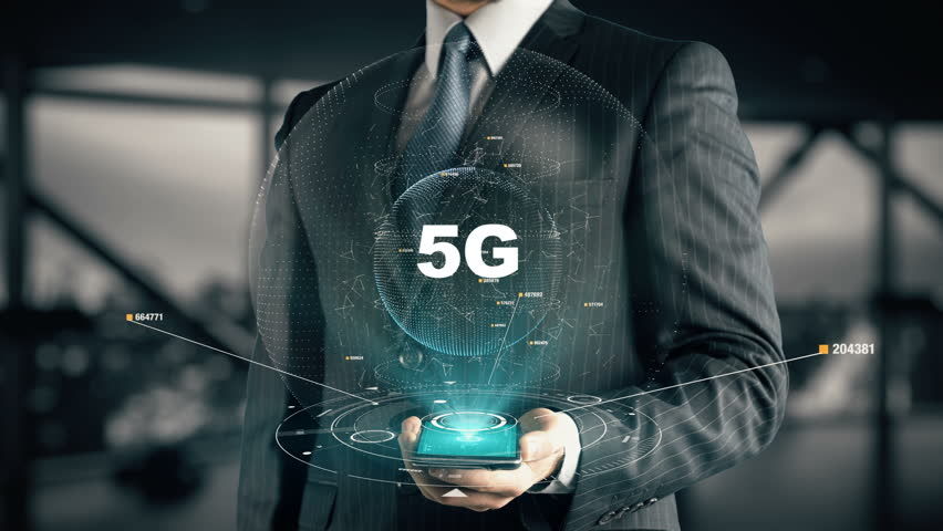 Businessman with 5G
