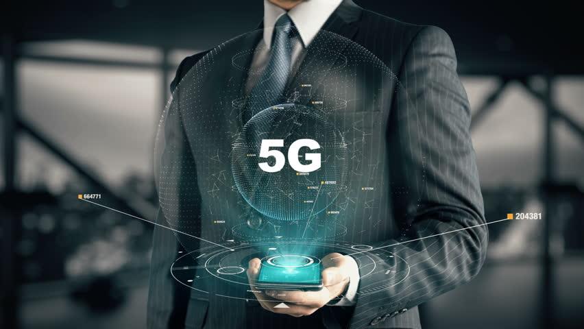 Businessman with 5G | Shutterstock HD Video #31768828