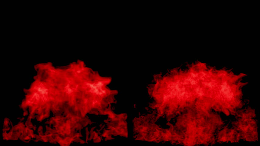 The red fire flares up and fades away, with alpha mask. Ready for compositing (4k, 3840x2160, ultra high definition) detailed fire | Shutterstock HD Video #31809556