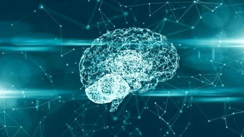 Computer brain thinking neural network AI artificial intelligence