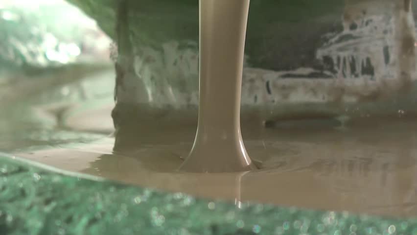 Chocolate fountain of white chocolate | Shutterstock HD Video #3187708