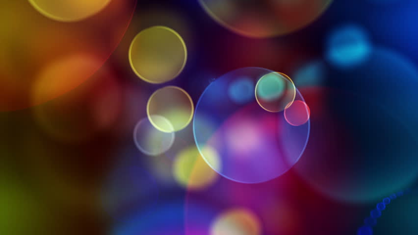Colorful Circles Video Background Loop  ///  Glassy circular shapes perform a colorful dance. motion background that is just perfectly suited for DVDs, events, clubs and lounges.
