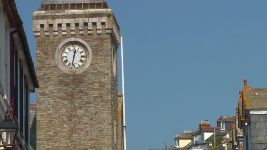 LOOE, ENGLAND - CIRCA 2011: Main shopping and tourist street of the town of Looe in Cornwall.