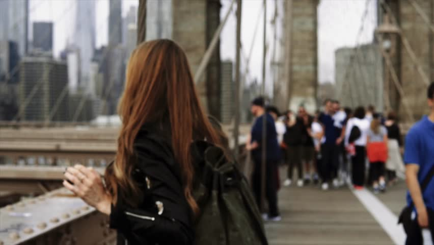 Tourist woman in New York City   Shutterstock HD Video #31926541