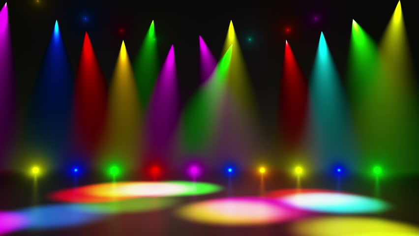 Disco Stage Dance Floor Colorful Vivid Lights Flashing ...