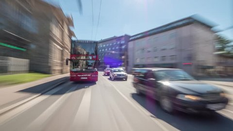 amazing road timelapse hyperlapse in Tallinn, on board car