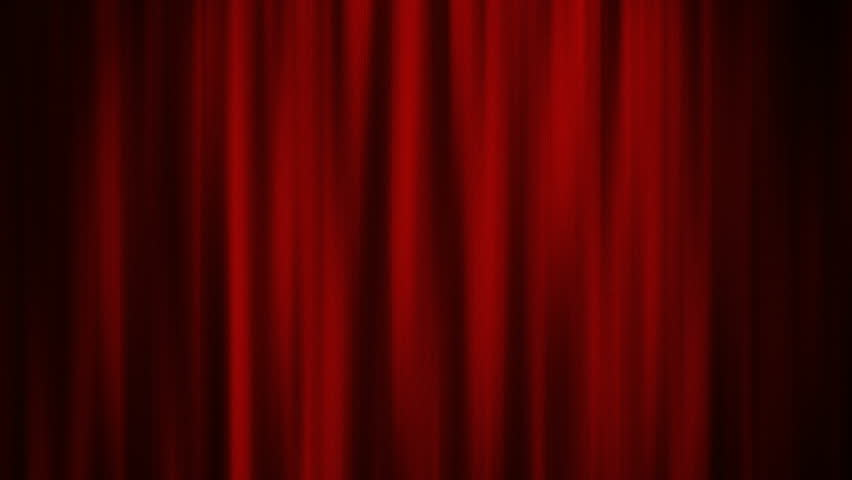 Theater Red Curtain With Spot Lighting   4K Stock Footage Clip
