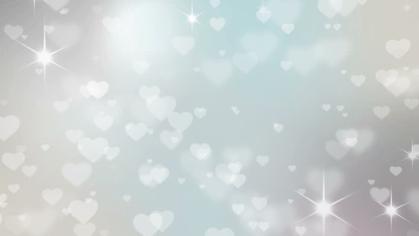 Valentine's day background with hearts -  seamless loop