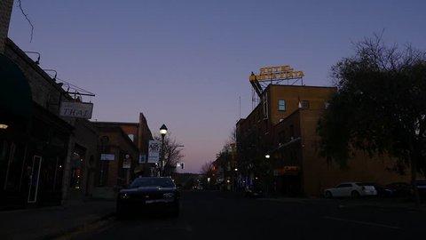 FLAGSTAFF, AZ, USA - 10/22/2017 - A main street of an historic small town