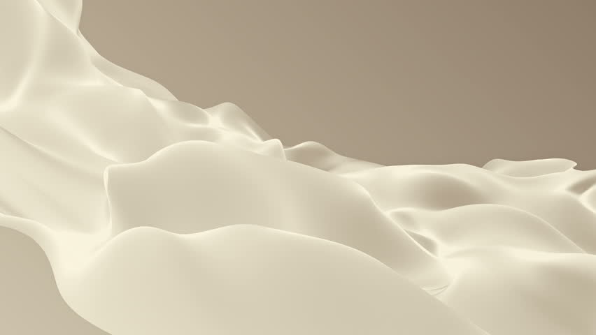 Abstract background waving with silk surface to the wind. Clear backdrop of ripple fabric. Beautiful abstraction of glowing cloth. Animation of seamless loop. | Shutterstock HD Video #32010478