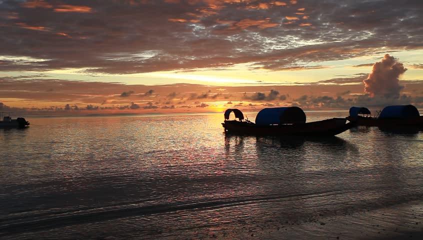 Sunset in Havelock island. Andaman islands, India