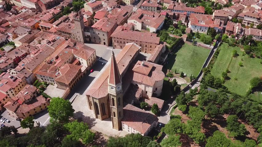 Aerial view of Arezzo Tuscany Italy