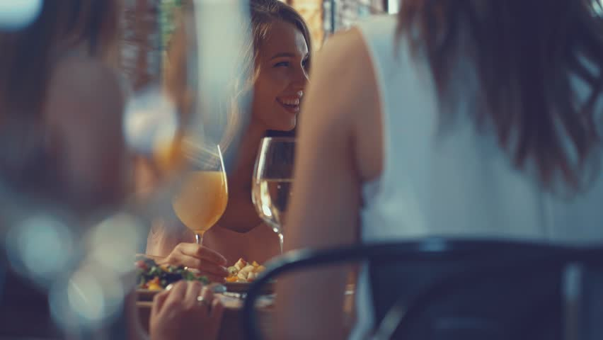Smiling women in a restaurant | Shutterstock HD Video #32168908