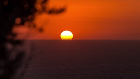 4K Timelapse of a Sunset at Zakynthos Island, Ionian Sea, Greece