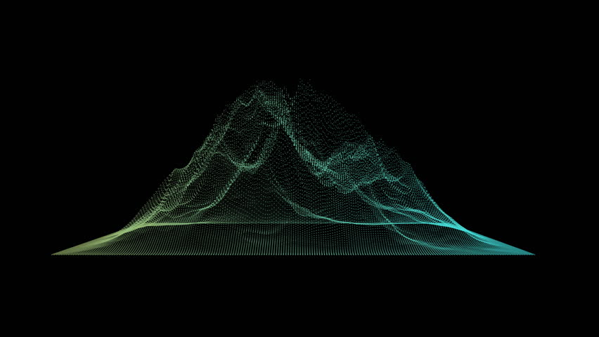 Big data visualization. Machine learning algorithms. Analysis of information. Visual data infographics design. Science and technology HD motion background.