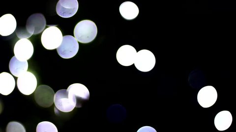 Blurred fairy light concept clips.Fairy light clips.Blurry fairy light for background and texture footage.Party blurred fairy light clips