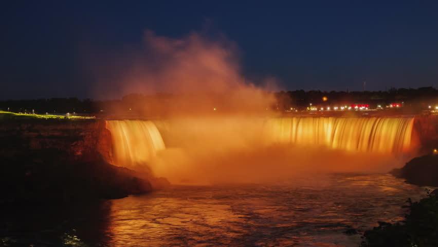 Niagara Falls Day to Night timelapse
