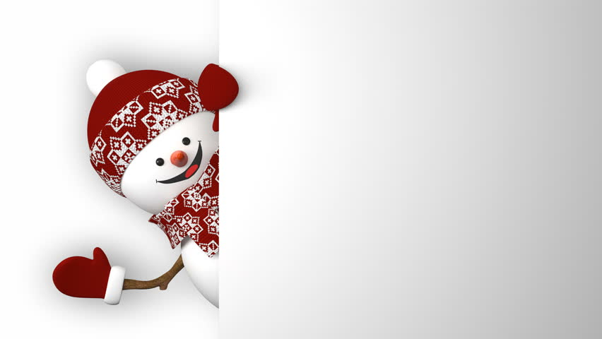 snowman with hat and scarf image - free stock photo - public domain photo