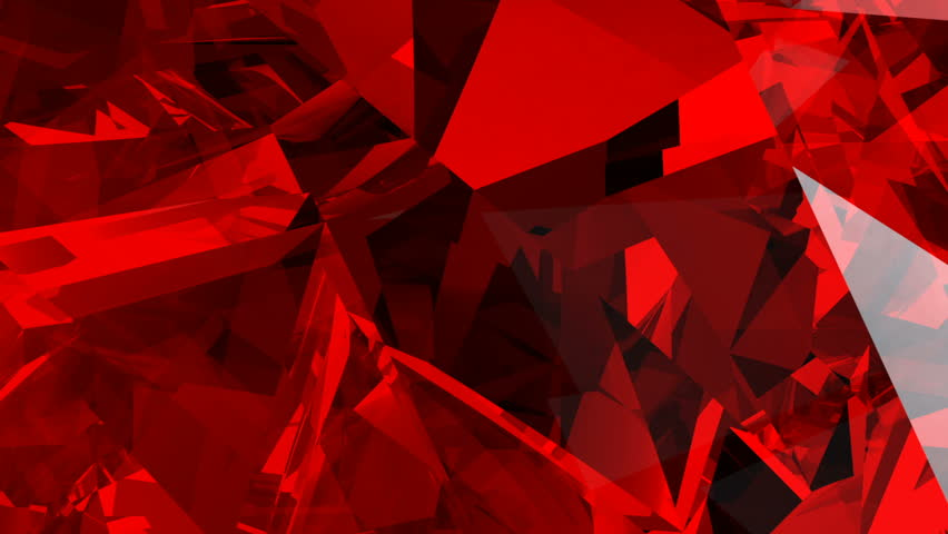 Red abstract animated background screen saver with imitation of glass fragments in a volumetric structure | Shutterstock HD Video #32327557