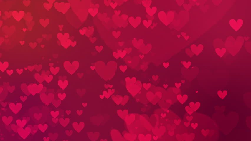 Valentines Day Loopable Abstract Background Stock Footage Video