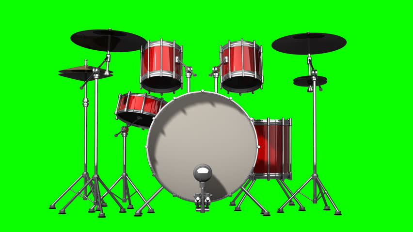 Red Drum Kit  Rotation On Stock Footage Video (100% Royalty-free) 3240061 |  Shutterstock