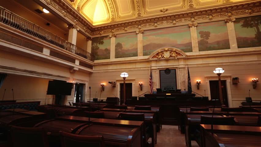 Utah State Senate Chamber Pan Utah State Capital Building High On