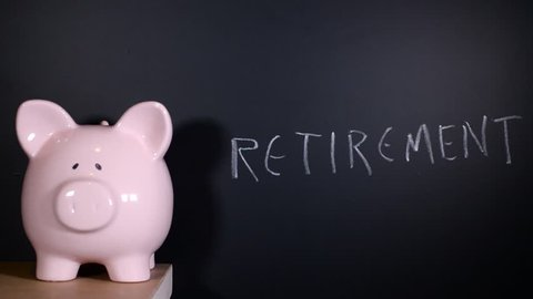 Retirement approaching written on a chalkboard by financial expert