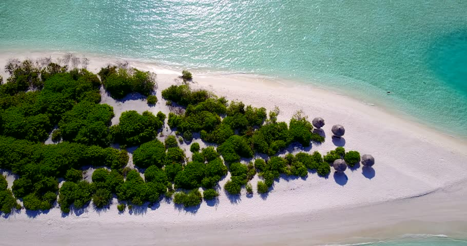 v13385 maldives white sand beach tropical islands with drone aerial flying birds eye view with aqua blue sea water and sunny sky