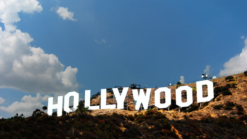 LOS ANGELES - JAN 2012: The world famous Hollywood sign in Los Angeles,