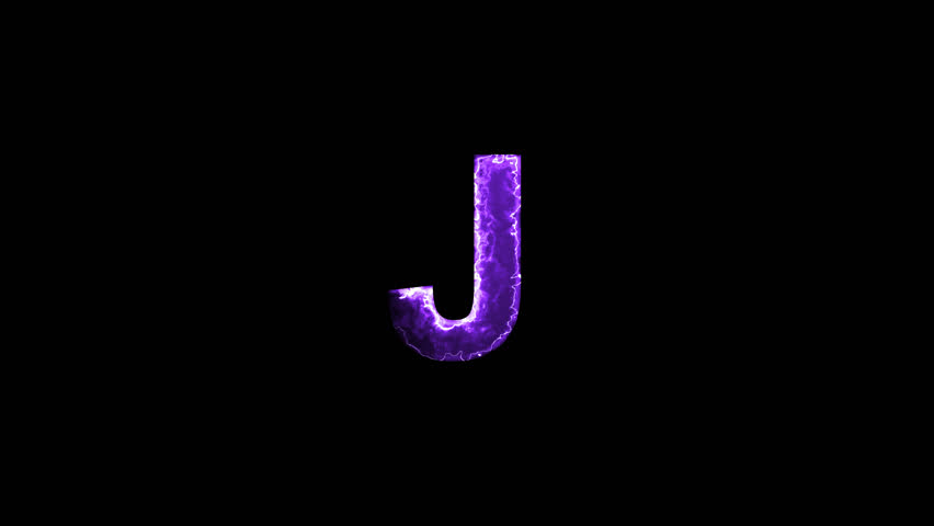 Luminous and shimmering haze inside the letters of the latin letter J. Transparent, Alpha channel | Shutterstock HD Video #32486818
