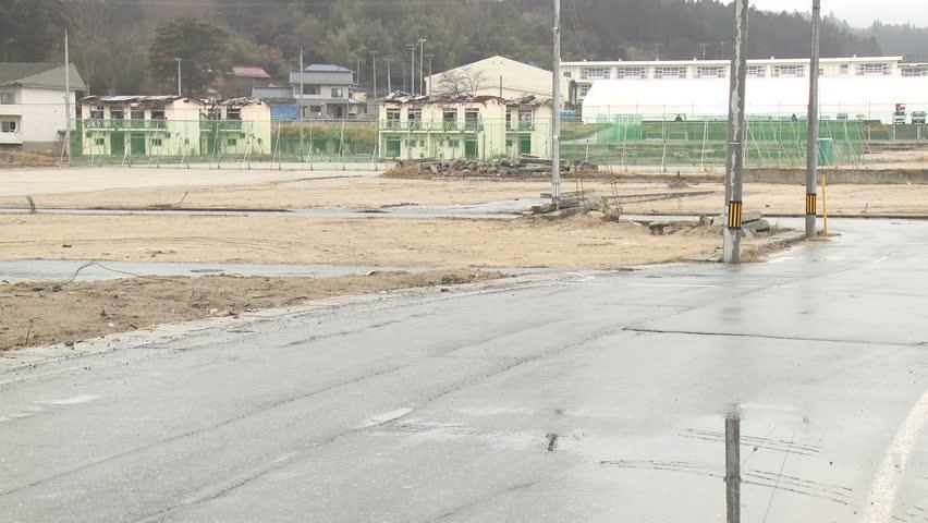 Japan Tsunami 1 Year On - Vacant plots one year after devastating tsunami. Shot in Rikuzentakata city in full HD 1920x1080 30p on Sony EX1 - Japan tsunami.