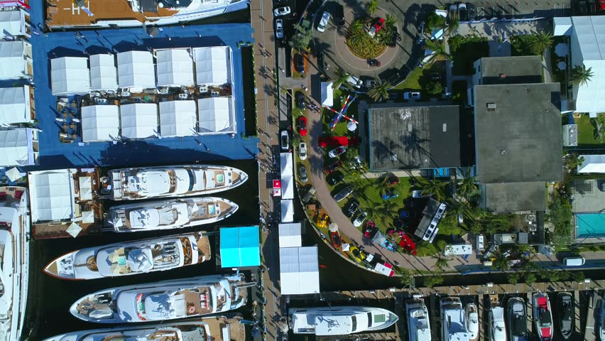 Drone over boats 4k #32536828