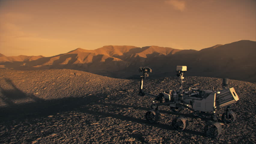 Highly realistic animation of the NASA Mars Discovery Rover. 4K UHD. 16-bit color depth. Broadcast quality. (Elements furnished by NASA)