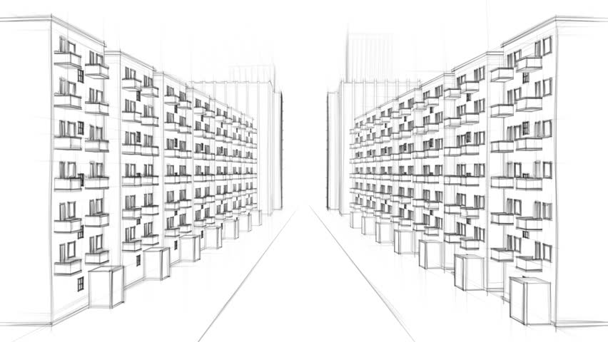 drawing of apartment complex stock footage video | shutterstock