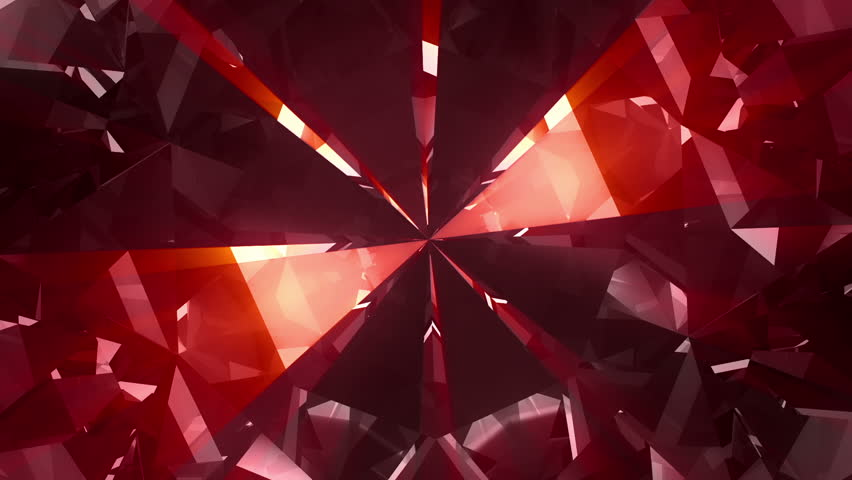 Spinning red valentine diamond detail - loopable 3d animation